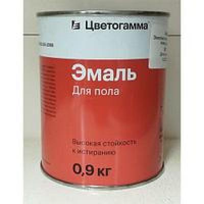 Эмаль ПФ-266 желто-коричневая 0,9 кг. ЦВЕТОГАММА