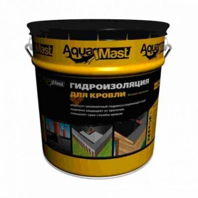 Мастика кровельная и гидроизоляционная битумно-резиновая AquaMast, ведро 18 кг