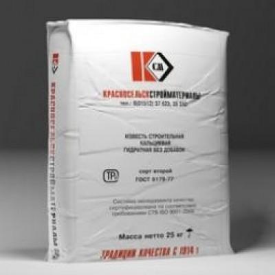 Известь гидратная 25 кг г. Красносельскматериалы