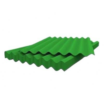 Шифер зеленый 8-ми волновой 1130х1750х5,2мм